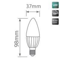 Lampadine LED candela 6W E14 560lm 6000K 120º