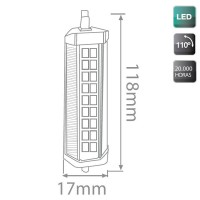 Lampada LED R7s 6W 500LM 3000K 118mm 110º