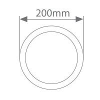 Applique LED rotondo 7W 450LM 3000K, Bianco