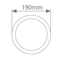 Applique LED rotondo 12W 700LM 3000K IP65, Bianco