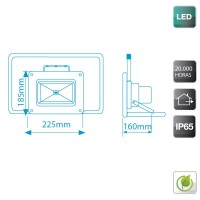 Proiettore LED mobile 50W 3500lm 6000K