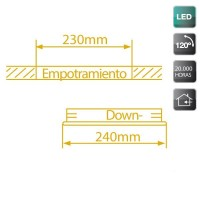 Faretto LED da incasso 20W - bianco, 920lm 4200K Luce naturale