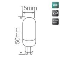 Lampadine LED G9 3.5W - 250 Lumen, 3000K 300º