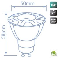 Lampadine LED Cob GU10 3000K 6W 460LM 50º