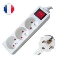 Multipresa elettrica 3 posti + interruttore