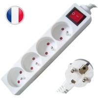 Multipresa elettrica 4 posti + interruttore