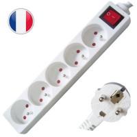 Multipresa elettrica 5 posti + interruttore