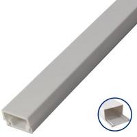 Scatola da 50 Mini canalina adesiva in PVC 12x12mm