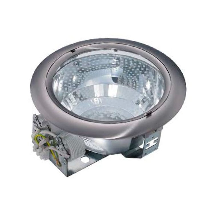 Mini-downlight da incasso tondo, nichel satinato