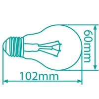 Scatola 10 lampadine alogene salvare consumo tipo a incandescenza standard 42W E27 (60W)