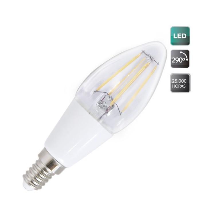 Lampadine LED candela 2W E14 200lm 3000K 290º