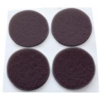 Feltrini adesivi marrone 8 unità