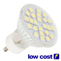 Pack da 5 Lampadine LED GU10 4.6W 320lm 3000K 120º - Low Cost