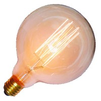 Lampadina decorativa globo E27 G125 40W 120lm 2700K