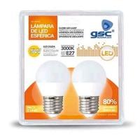 Pack 2 Lampadine LED sferiche E27 5W 420lm 3000K