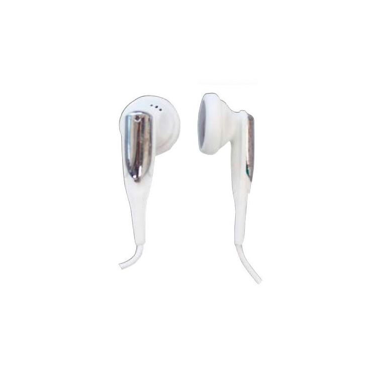 Cuffie auricolari stereo color bianco da Ø15mm. Filo da 1.2mt . Jack 3.5mm