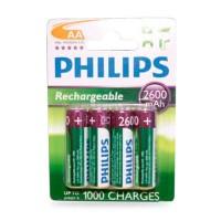 Scatola da 12 blister da 4 batterie ricaricabili Philips R6 (AA) Ni-MH 2600mAh