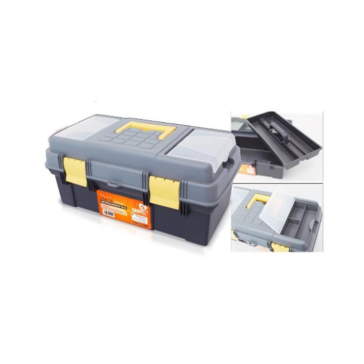 Cassetta per attrezzi 390 x 250 x 225mm con doppio fondo