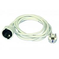 Prolunga elettrica 2mt 2P + T Schuko e cavo H05W-F color bianco