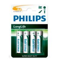 Scatola da 12 blister da 4 pile saline Philips R6 (AA) - batterie