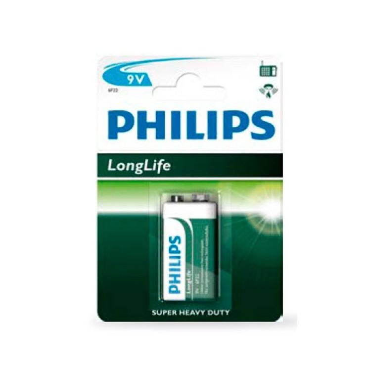 Scatola da 12 blister da 1 pila salina Philips 9V - batterie