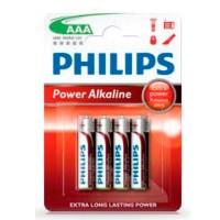 Scatola da 12 blister da 4 pile LR03 Philips AAA - batterie alcaline