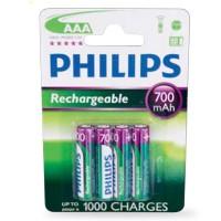 Scatola da 12 blister da 4 batterie ricaricabili Philips R6 (AAA) Ni-MH 700mAh