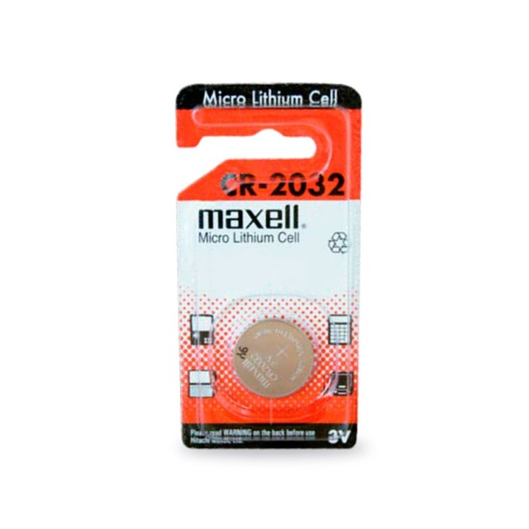 Scatola da 10 pile bottone a litio Maxell CR2032 3V