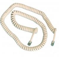 Cavo telefonico spiralato 4P / 4C da 2.1 metri, maschio a maschio