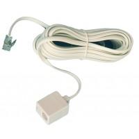 Maschio di telefono estensione a femmina 6P/4C, bianco. di 7,5 metri.