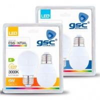 Scatola da 5 Pack 2 lampadine LED E27 6W 560lm 6000K 120º
