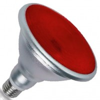 Lampadina LED E27 PAR38 18W 700lm con luce rossa