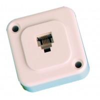 Base superficie modulare telefono, montaggio a vite, p 6/4 c.