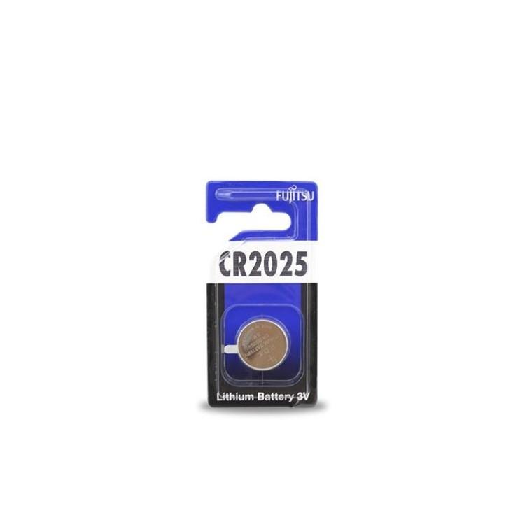 Scatola da 20 pile bottone al litio Fujitsu CR2025 3V - Blister 1 batteria