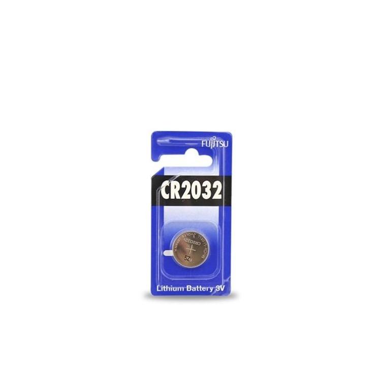 Scatola da 20 pile bottone al litio Fujitsu CR2032 3V - Blister 1 batteria