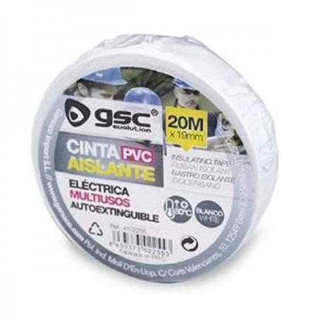 Scatola da 10 Nastro isolante elettrico in PVC bianco 20M x 25mm