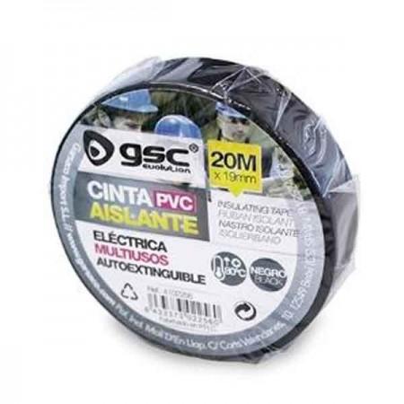 Scatola da 10 Nastro isolante elettrico in PVC nero 20M x 25mm
