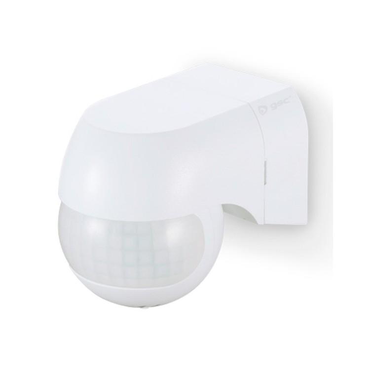 Rilevatore di movimento con area di detezione di 180° (orizzontale) e 60° (verticale), colore bianco