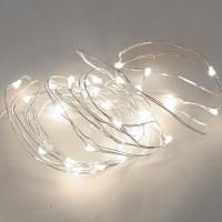 Filo luce natalizia LED bianco fredda 2m. IP20