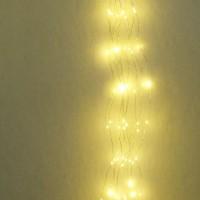 Cascata di luci natalizie LED 3000K 1m 2.4W