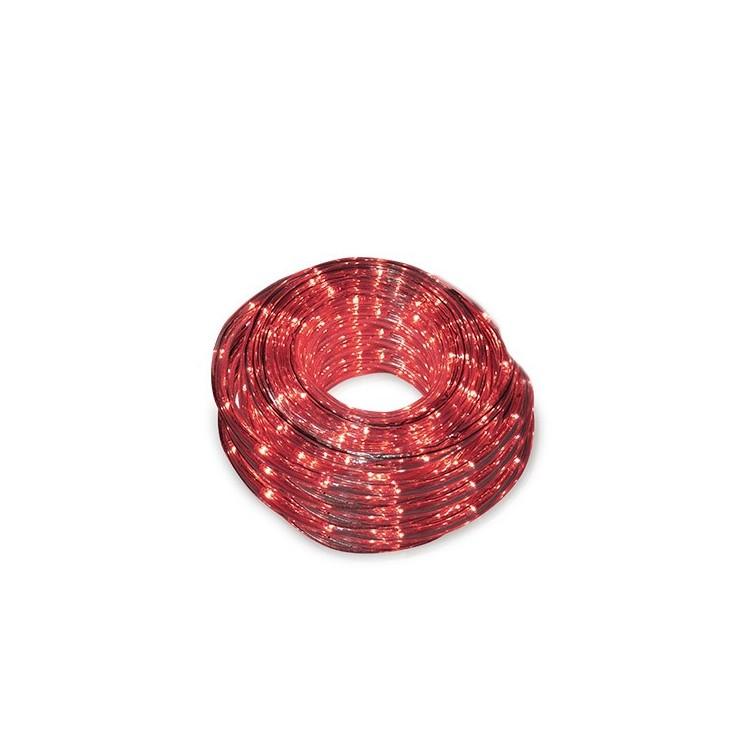 Tubo luminoso flessibile LED rosso 48m. IP44
