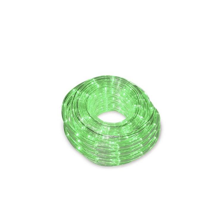 Tubo luminoso flessibile led verde 48m ip44 for Tubo flessibile a led
