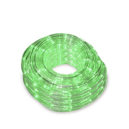 Tubo luminoso flessibile LED verde 48m. IP44