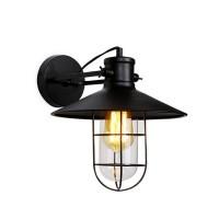 Lampada applique Factory metallo nero