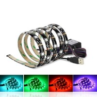 Striscia LED RGB USB 2x0,5M para TV 7.2W/M IP44