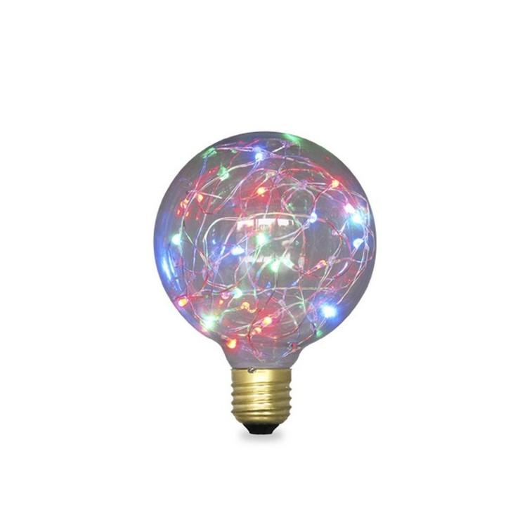 Lampada Starlight decorativa globo G95 LED 2W E27 RGB