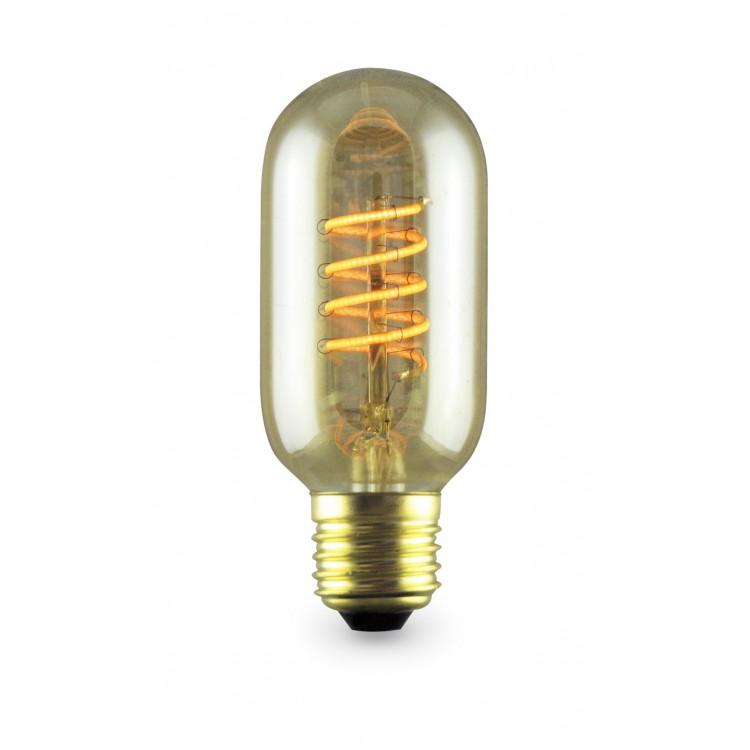 Lampada decoloop decorativa tubolare t45 led 4w e27 2000k for Lampada tubolare led