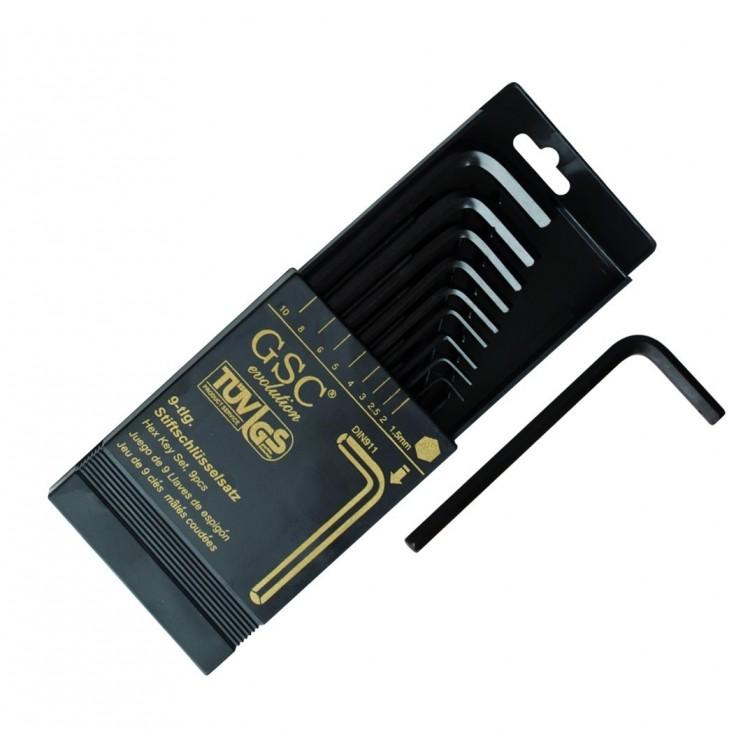 Set da 9  chiavi a brugola da 1,5mm a 10mm