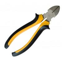 Pinza tronchesina 160mm per taglio diagonale in cromo vanadio, impugnatura ergonomica