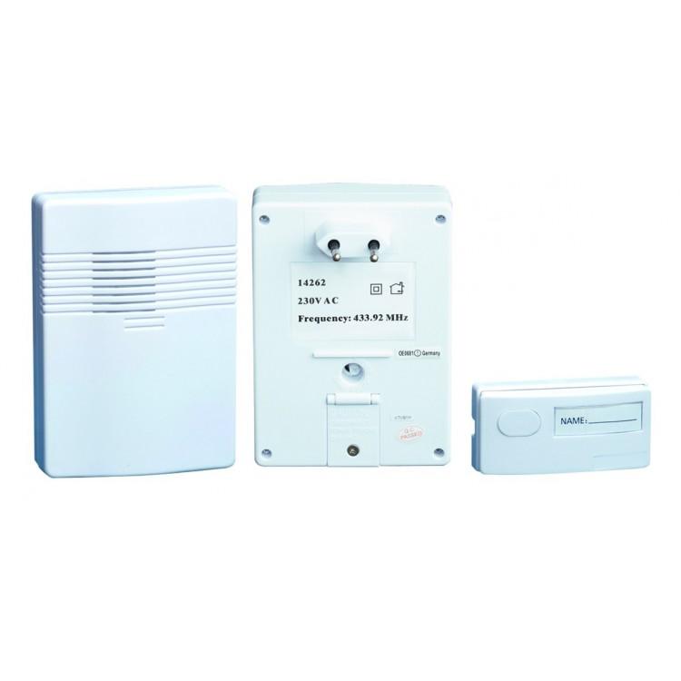 Campanello senza fili wireless, controllato fino ad una distanza di 100 mt.
